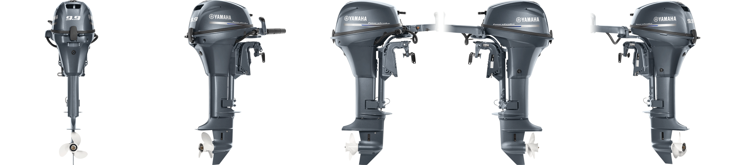 Outboards 9 9 and 8 hp portable yamaha outboards for Best prop for 25 hp yamaha 2 stroke